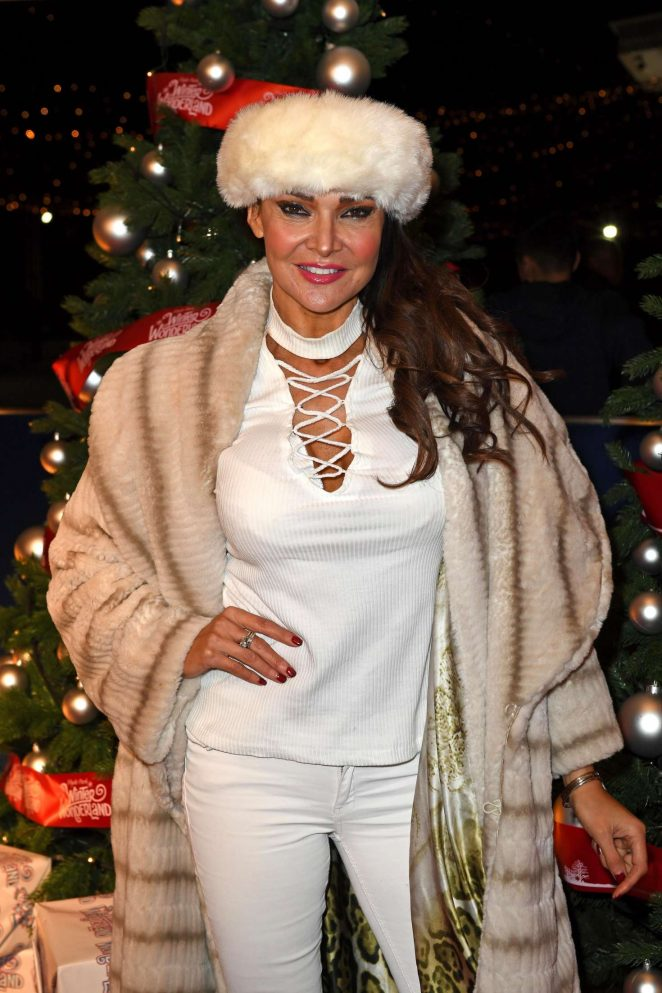 Lizzie Cundy - Hyde Park Winter Wonderland VIP Launch in London