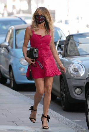 Lizzie Cundy in Mini Dress - Out in London