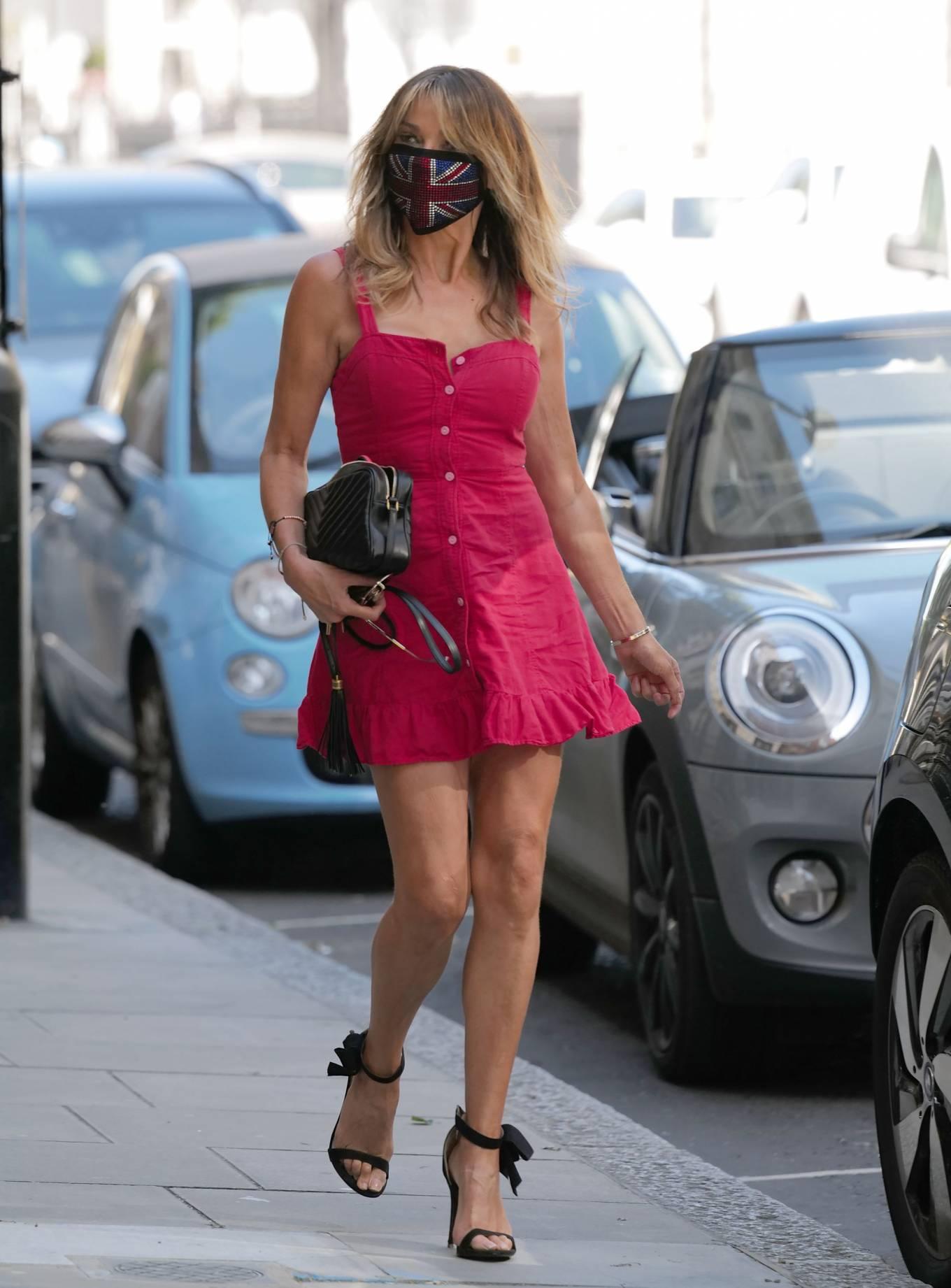 Lizzie Cundy in Mini Dress - Out in London