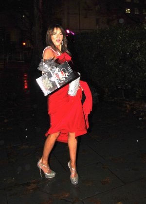 Lizzie Cundy - Leaving 'Nutcracker Ball' in London