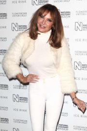 Lizzie Cundy - Natural History Museum Ice Rink Launch Party in London