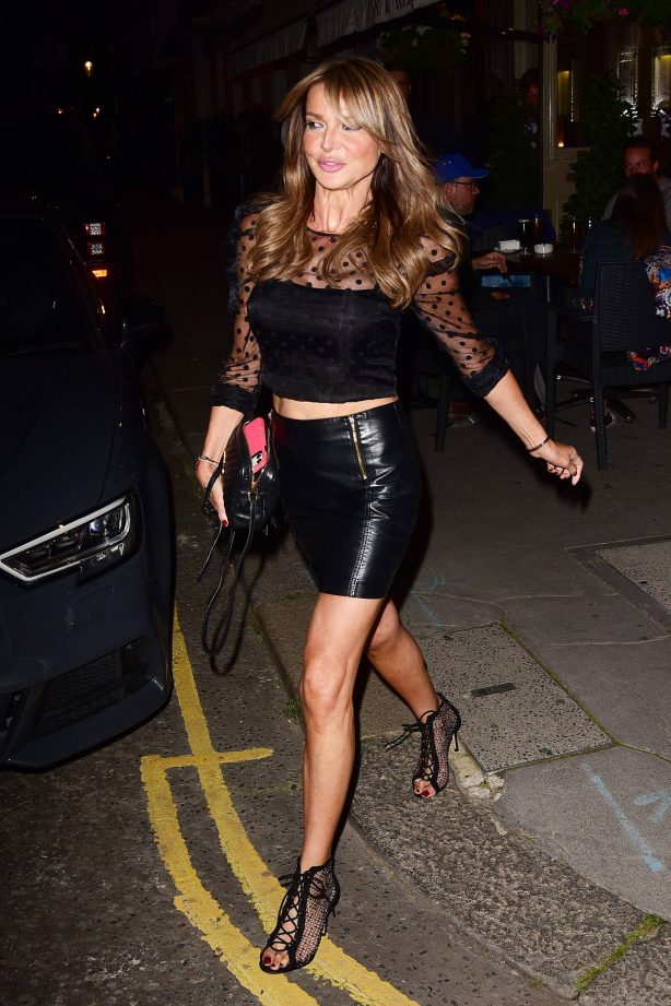 Lizzie Cundy - Night out at La Famiglia in Chelsea