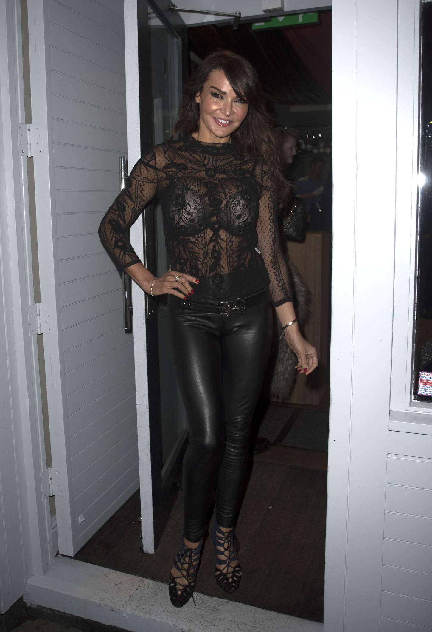 lizzie cundy in leather pants 01 gotceleb