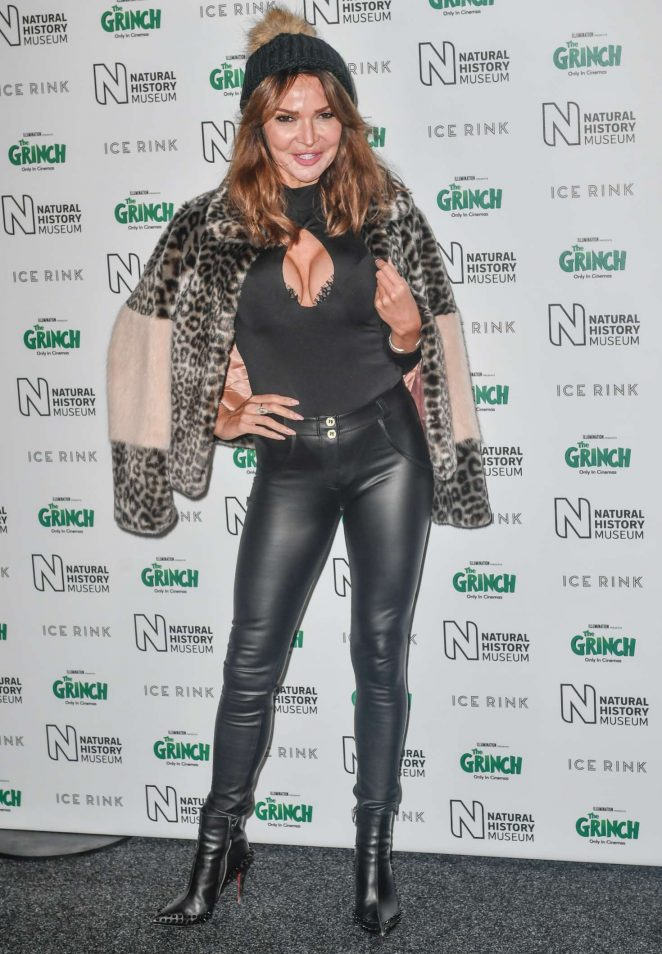 Lizzie Cundy – The Natural History Museum Ice Rink VIP Launch Night in London