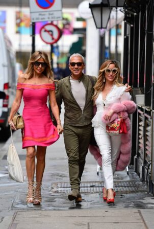 Lizzie Cundy - With Bruno Tonioli Attend Charity Event In London