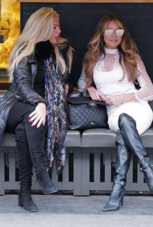 Lizzie Cundy - With Claire Cauldwell in Knightsbridge