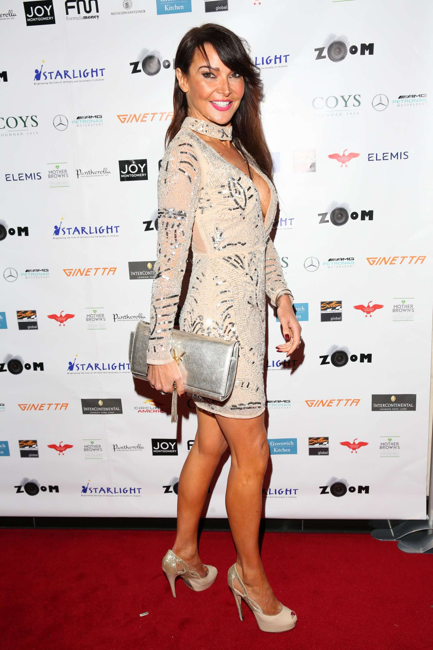 photo Lizzie cundy at zoom auction charity gala in london