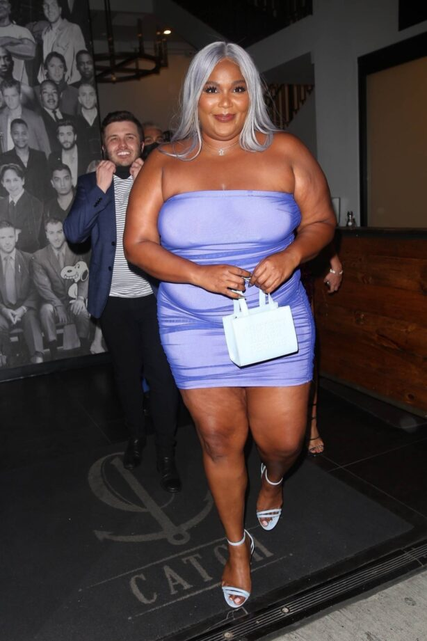 Lizzo - Pictured outside Catch LA in West Hollywood