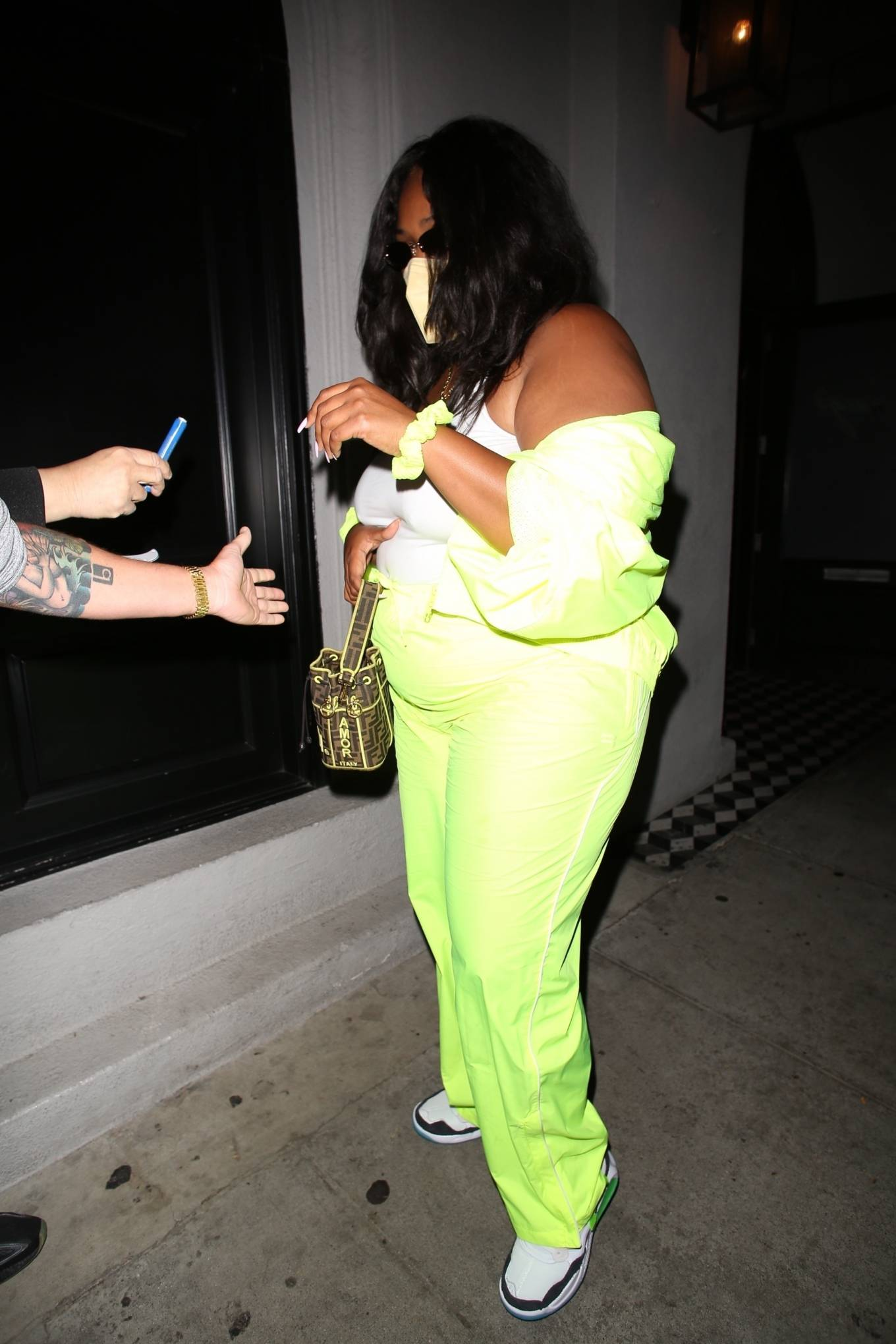Lizzo 2021 : Lizzo – Seen at Craigs in West Hollywood-02
