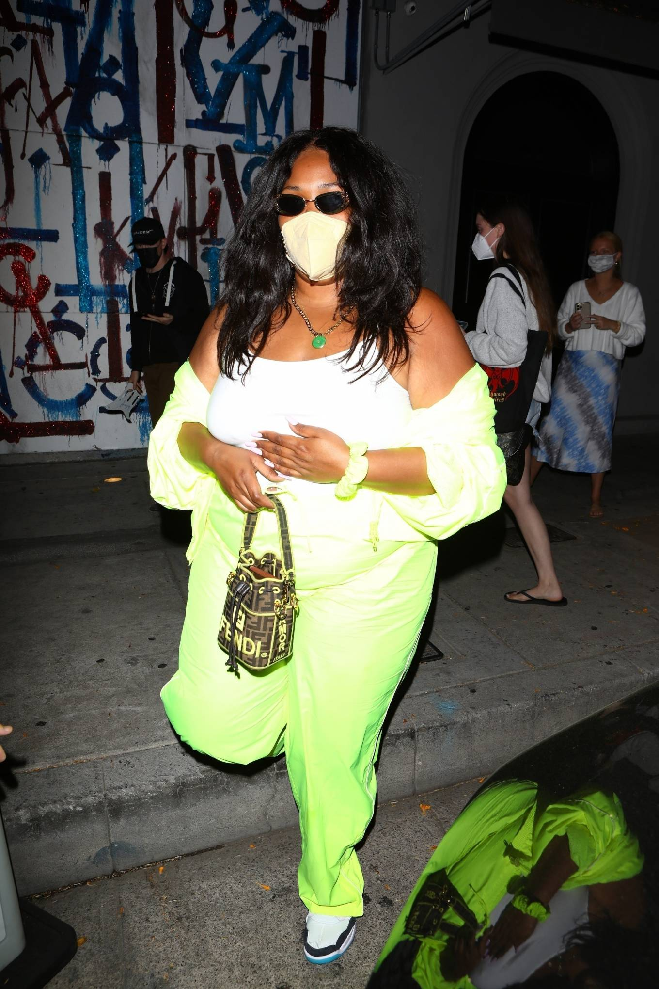 Lizzo 2021 : Lizzo – Seen at Craigs in West Hollywood-07