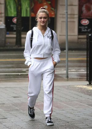 Lizzy Greene in White Sweats Out in Vancouver
