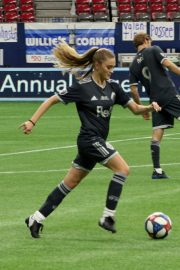 Lizzy Greene - Playing in the annual Vancouver Whitecaps Charity Game in Vancouver