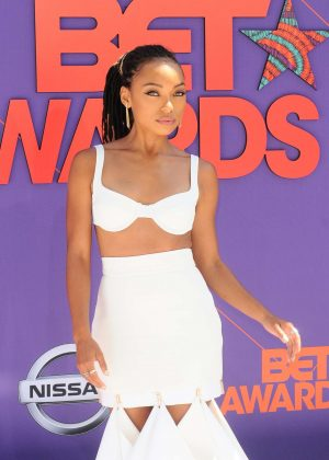 Logan Browning - 2018 BET Awards in Los Angeles