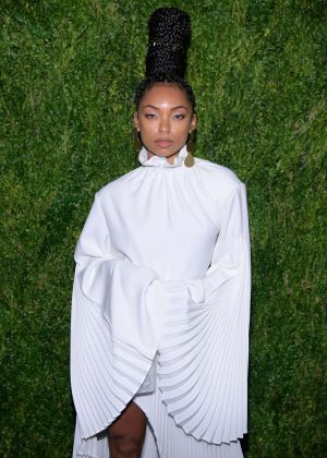 Logan Browning - CFDA/Vogue Fashion Fund 15th Anniversary Event in Brooklyn