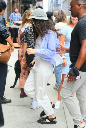 Lorde - Arrives for the taping of The Late Show With Stephen Colbert in New York City