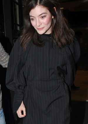 Lorde Exiting BBC Radio 2 Studios in London