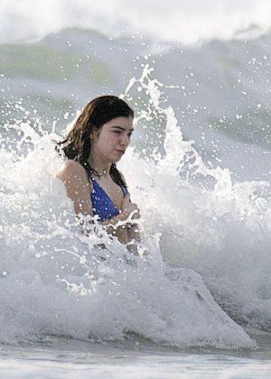 Lorde In Blue Bikini At A Beach In New Zealand