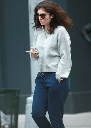 Lorde in Sweats out in New York