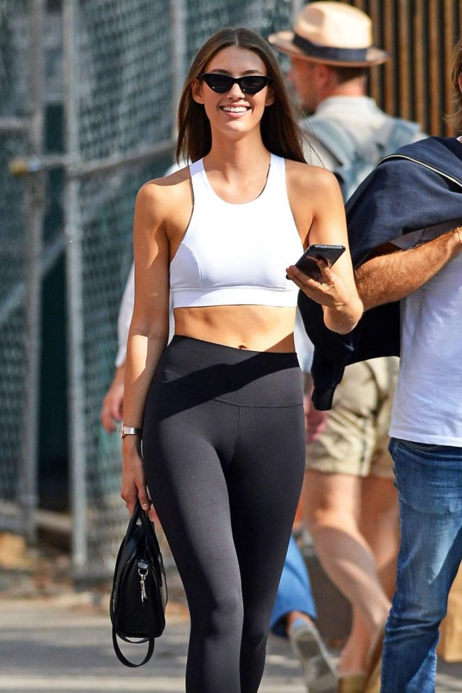 Lorena Rae in Tights out in New York