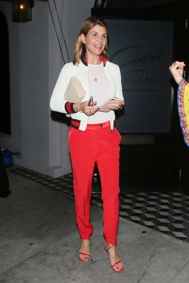 Lori Loughlin in Red Pants - Out in Los Angeles
