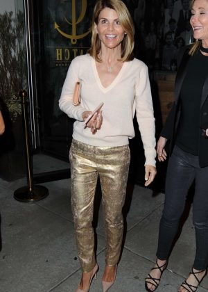 Lori Loughlin Leaves Catch Restaurant in Los Angeles