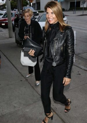Lori Loughlin - Leaves Craig's Restaurant in West Hollywood