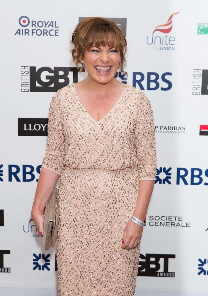 Lorraine Kelly - LGBT Awards 2015 in London