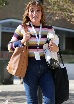 Lorraine Kelly - Outside ITV Studios in London