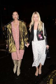 Lottie Moss and Betty Bachz - Leaving George Private Members Club in London