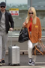 Lottie Moss and Danyul Brown - Out of Heathrow Airport in London