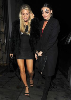 Lottie Moss and Emily Blackwell - Arriving at Beaufort House in Chelsea