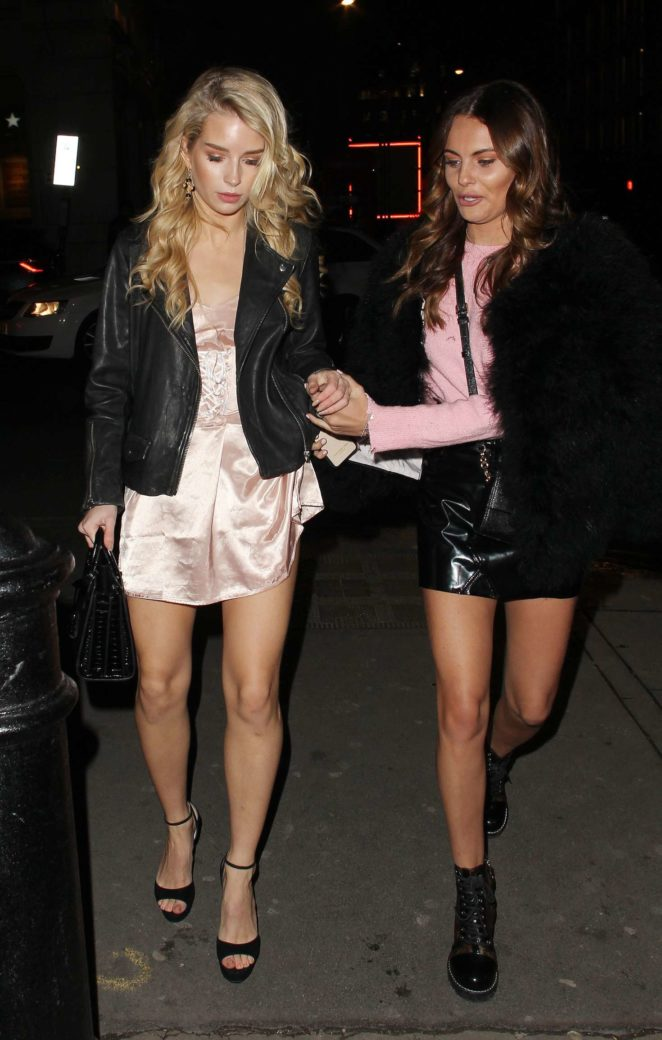 Lottie Moss and Emily Blackwell - Arriving at Tape Nightclub in London