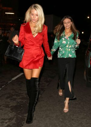 Lottie Moss and Emily Blackwell Night out in London