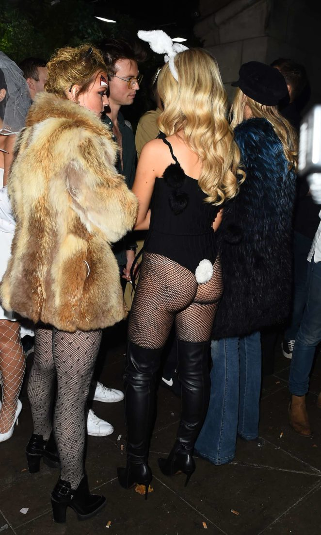 Lottie Moss and Emily Blackwell: One Embankment Halloween Party -01