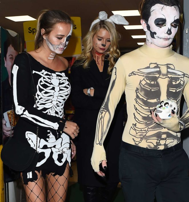 Lottie Moss and Emily Blackwell: One Embankment Halloween Party -06