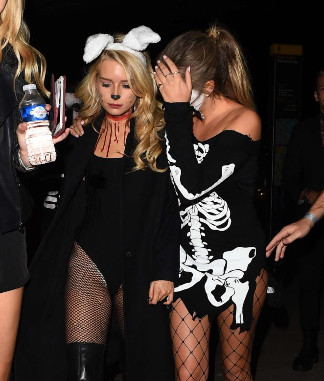 Lottie Moss and Emily Blackwell: One Embankment Halloween Party -30