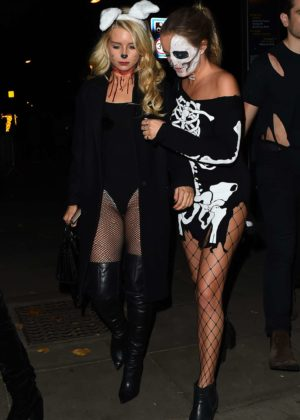 Lottie Moss and Emily Blackwell - One Embankment Halloween Party in London