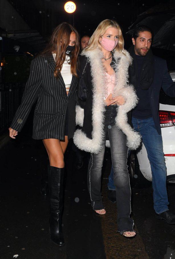 Lottie Moss and Hana Cross - Seen at Bagatelle in London