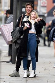 Lottie Moss and Sam Prince - Out in Chelsea