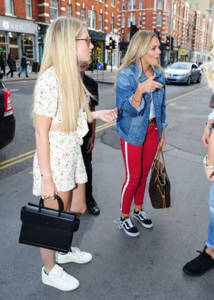 Lottie Moss and Tallia Storm heading to the Bluebird restaurant in Chelsea