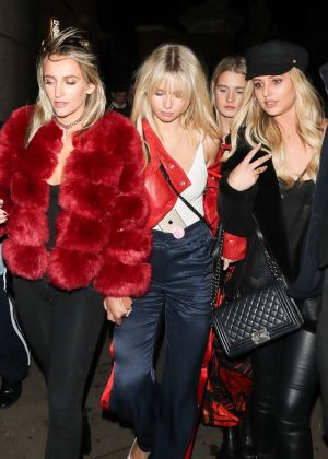 Lottie Moss and Tiffany Watson - Leaving Mahiki nightclub in London