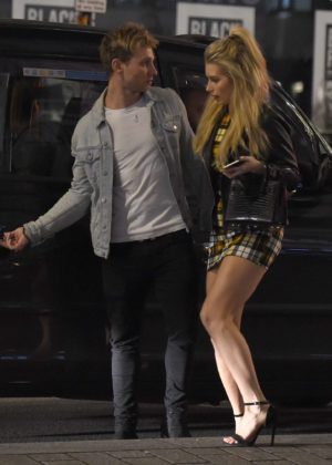Lottie Moss and Tom Dolemore night out in London