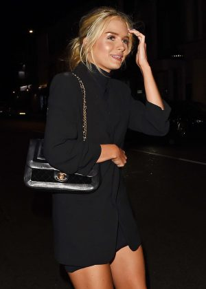 Lottie Moss at Ours restaurant in Chelsea