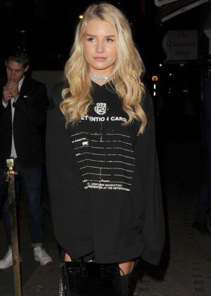 Lottie Moss at Tallia Storm's Birthday Party in Covent Garden
