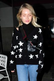 Lottie Moss at the Bluebird Cafe on the Kings Road in Chelsea