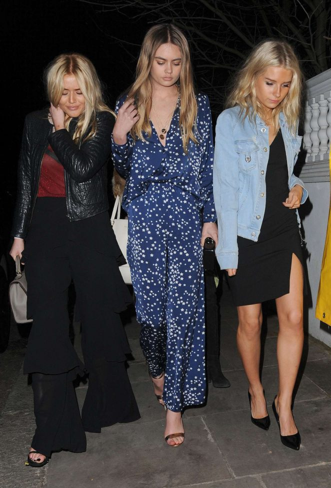 Lottie Moss: Attending a party at London Fashion Week -14