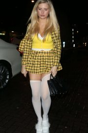Lottie Moss - Exits a Halloween Party at LayLow Club in London