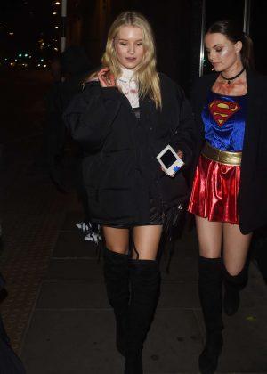Lottie Moss - Halloween Party at M Restaurant in London