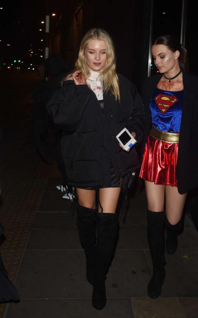 Lottie Moss – Halloween Party at M Restaurant in London