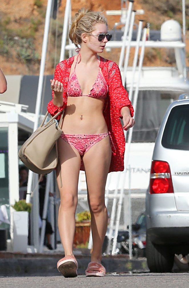 Lottie Moss in Bikini in Spain